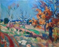 paysage provençal by waclaw zawadowski