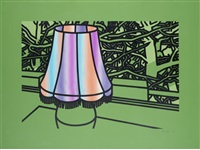 lamp and pines by patrick caulfield
