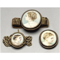 portrait miniature of lady coleridge (+ 2 other; 3 works) by jane fortescue seymour