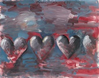 little hearts in the 80s, number 10 by jim dine