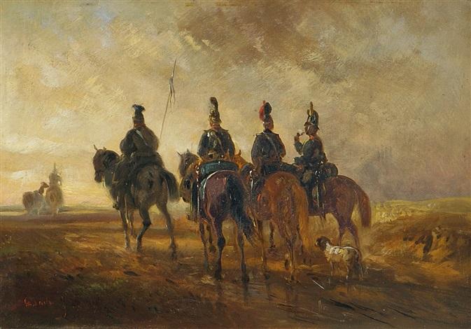 soldaten zu pferde by alois bach