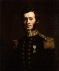 admiral sir francis leopold mcclintock in naval uniform, wearing the artic medal by john lewis reilly