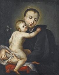 der heilige antonius von padua mit jesuskind by f.c. weber