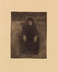 sitzende alte by paula modersohn-becker