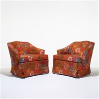 lounge chairs (pair) by jack lenor larsen