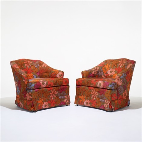 lounge chairs pair by jack lenor larsen