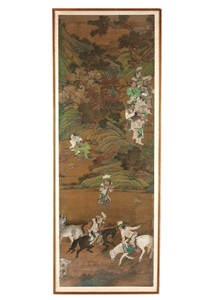 a tangut hunting party by anonymous-chinese (qing dynasty)