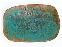 untitled (fish platter) by luke orton lindoe