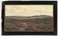 an army training camp, the new forest (+ looking across the plains, the new forest; pair) by frederick golden short