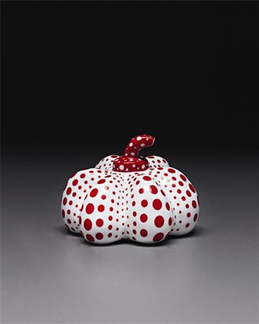 porcelain pumpkin by yayoi kusama