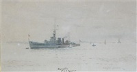 hms dunedin (+ 2 others; 3 works) by roland langmaid