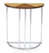 semi-circular console table by gilbert rohde