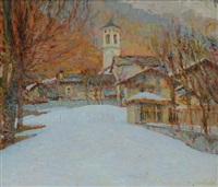 paesaggio invernale by giuseppe sobrile