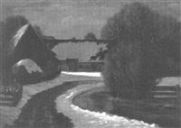bauernhof im winter by otto rau