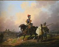 scène militaire by hippolyte lecomte
