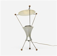 table lamp, model t-c-3 by james harvey crate