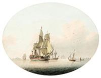sailing vessels at sea by samuel atkins