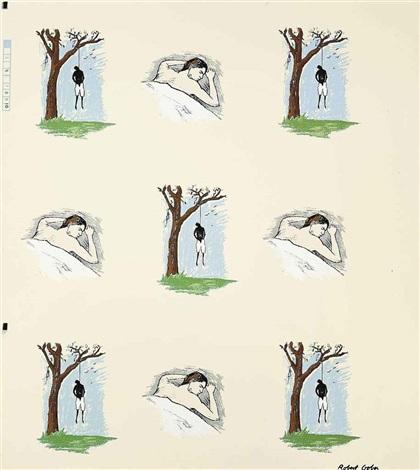 sleeping manhanging man by robert gober