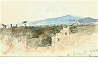 a view of the roman countryside by hercules brabazon brabazon