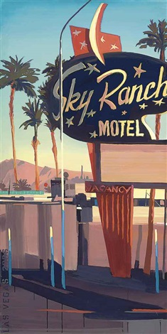 sky ranch motel 4 others set of 5 by michelle auboiron