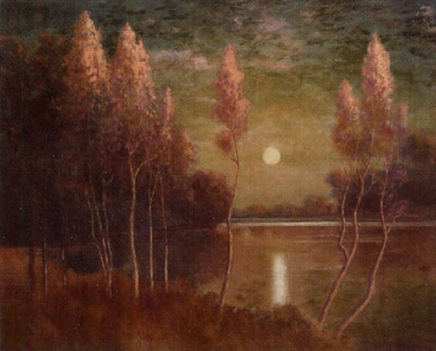 landscape with moon by paul mersereau