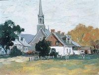 church, ile d'orleans by paul barnard earle