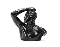 bust of age of bronze by auguste rodin