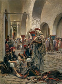 le souk des étoffes, tunis by anton robert leinweber