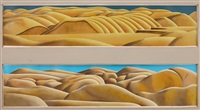north otago landscape (diptych) by michael duncan smither