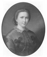 porträt einer dame in blauem kleid by antonio barzaghi-cattaneo