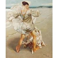 girl on the beach by lui liu