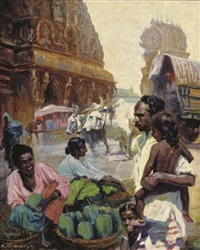 street scene, colombo by franz kienmayer