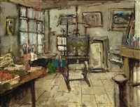 studio of an artist by jan den hengst