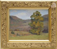 autumn landscape by charles curtis allen