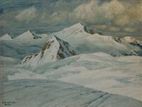 randonnée à ski à parsenn, davos by hans beat wieland