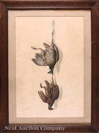 nature morte: two quail by george luis viavant