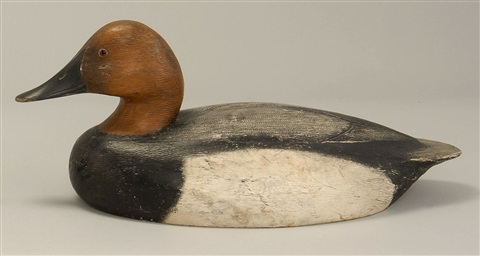 canvasback drake decoy by ken anger