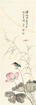荷花小鸟 by xiao yiwei