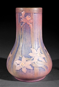 vase (decorated by sadie irvine) by newcomb college pottery