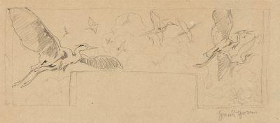 entwürfe für supraporten allegorien der vier elemente 5 works by hans thoma