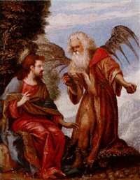 the temptation of christ by battista (de luteri) dossi
