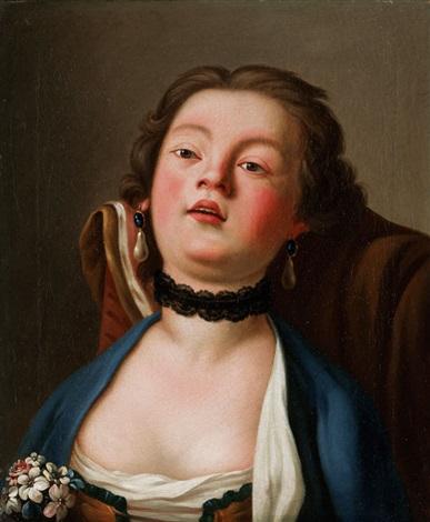 bildnis einer jungen dame by pietro antonio rotari