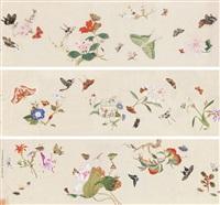 百花草虫图 (flowers and insects) by jin zhang