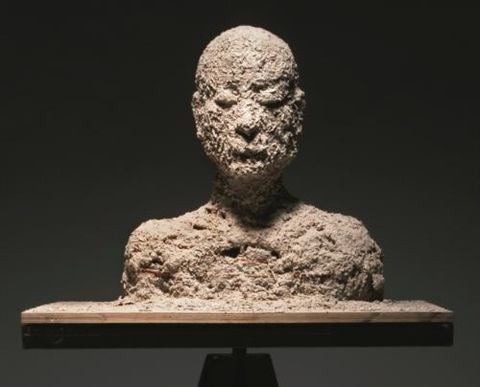 ash portrait no 12 by zhang huan