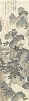 云山草堂图 (thatched house in cloudy mountains) by pu ru