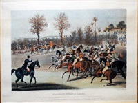 st. albans steeple chase (pair) by james pollard