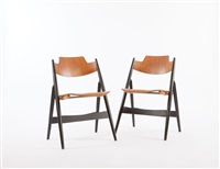 se18 folding chairs (pair) by egon eiermann