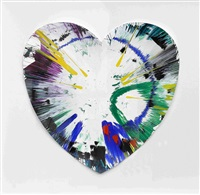 spin painting (heart) by damien hirst