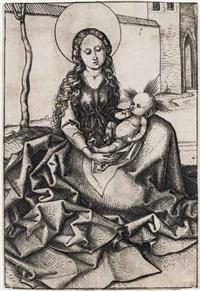 die madonna im hof by martin schongauer