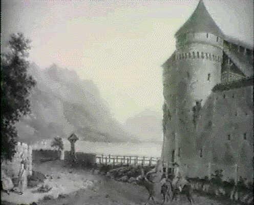 vue du chateau de chillion au lac de geneve by gottfried locher